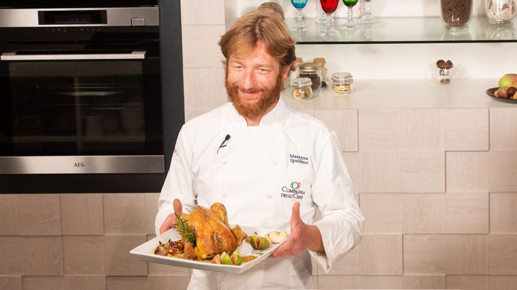 ricetta cappone ripieno al forno Massimo Spallino