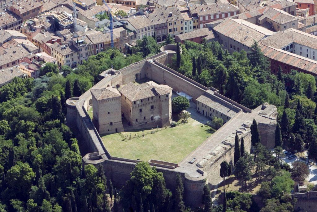 Rocca malatestiana Cesena- foto aerea foto di: |Michele Buda| - Archivio Uff. Prom.Turistica Comune di Cesena
