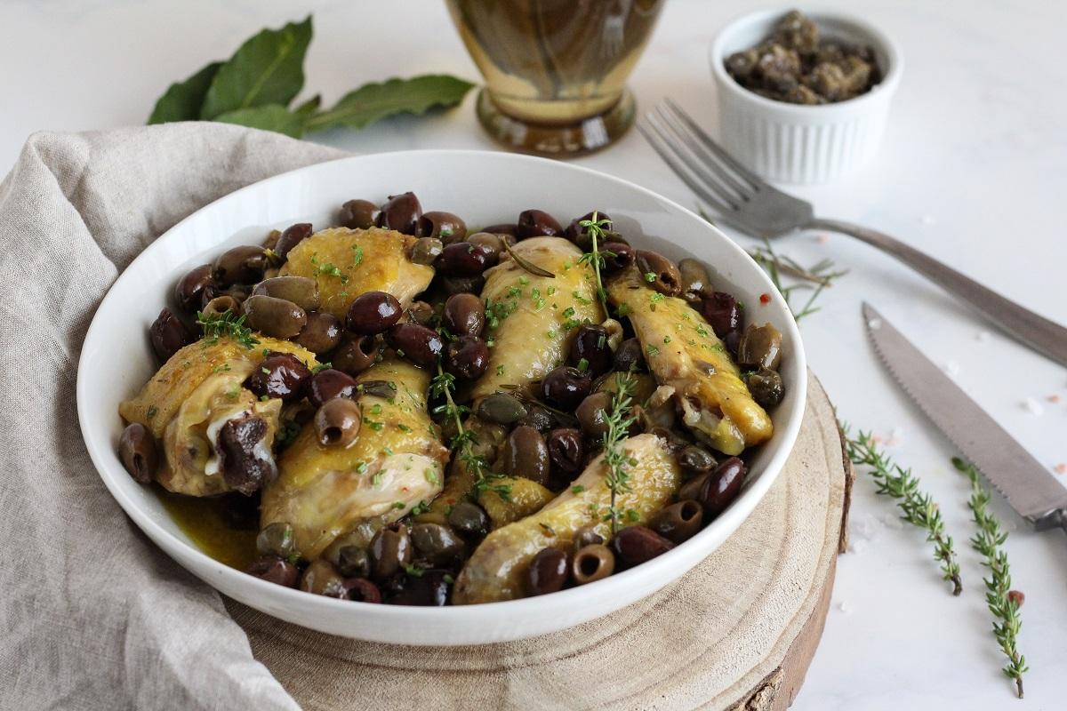 Gallo olive e capperi-ricetta