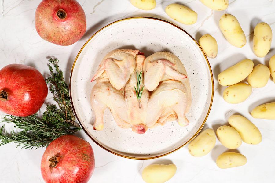 galletto al forno con patate